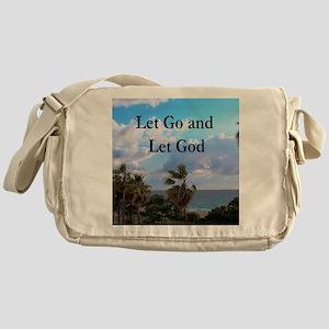 LET GO AND LET GOD Messenger Bag