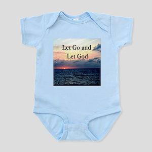 LET GO AND LET GOD Infant Bodysuit
