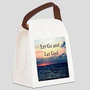 LET GO AND LET GOD Canvas Lunch Bag