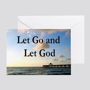LET GO AND LET GOD Greeting Card