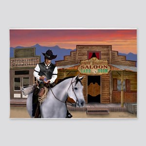 Wild West Gambler 5'x7'Area Rug
