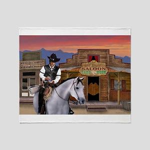 Wild West Gambler Throw Blanket