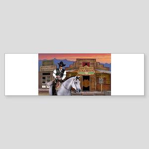 Wild West Gambler Bumper Sticker