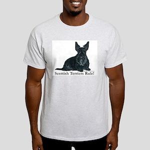 Scottish Terriers Rule! Light T-Shirt