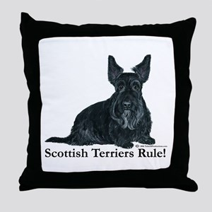Scottish Terriers Rule! Throw Pillow