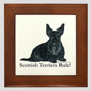 Scottish Terriers Rule! Framed Tile