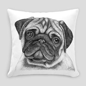 Pug Everyday Pillow