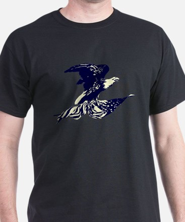 Vintage Eagle and American Flag T-Shirt