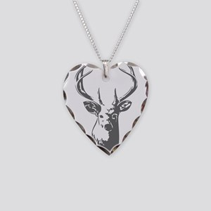 Deer Necklace Heart Charm