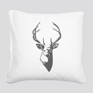 Deer Square Canvas Pillow