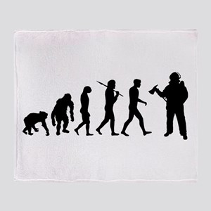 Fireman Evolution Throw Blanket