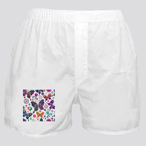 Colorful Flowers And Butterflies Pattern Boxer Sho