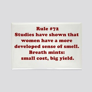 Rule #72 Rectangle Magnet