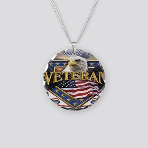 veteran Necklace Circle Charm