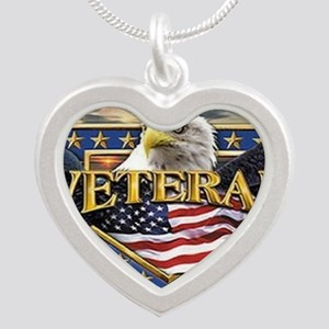 veteran Silver Heart Necklace