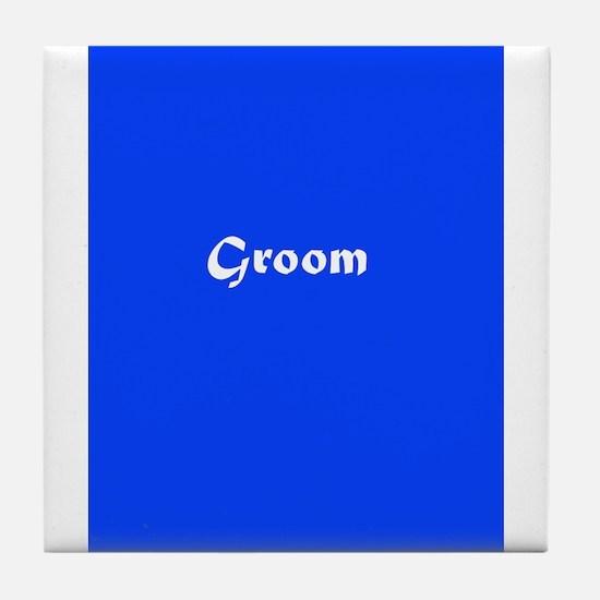 Blue Groom Wedding 27 Tile Coaster