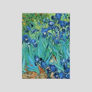 Van Gogh Garden Irises 5'x7'Area Rug