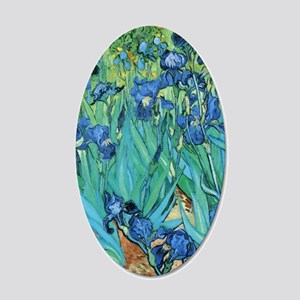 Van Gogh Garden Irises 20x12 Oval Wall Decal