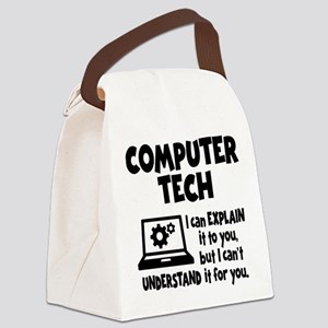 COMPUTER TECH Canvas Lunch Bag