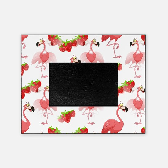 Strawberry Flamingos - Picture Frame