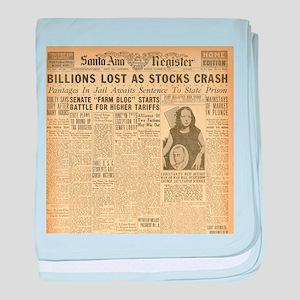 newspaper baby blanket