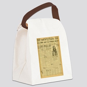 newspaper Canvas Lunch Bag