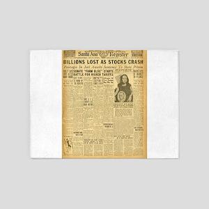 newspaper 5'x7'Area Rug