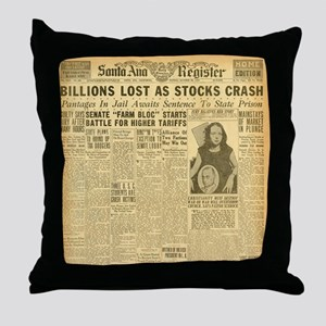 newspaper Throw Pillow