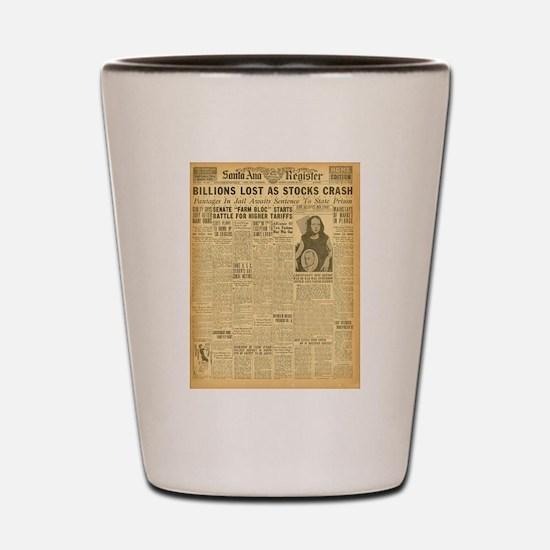 newspaper Shot Glass