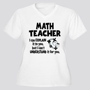MATH TEACHER Women's Plus Size V-Neck T-Shirt
