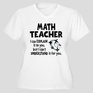 MATH TEACHER Women's Plus Size V-Neck T-Shirt
