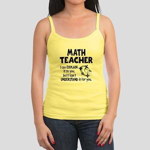MATH TEACHER Jr. Spaghetti Tank