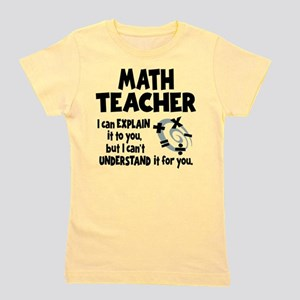 MATH TEACHER Girl's Tee
