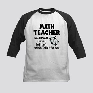 MATH TEACHER Kids Baseball Jersey
