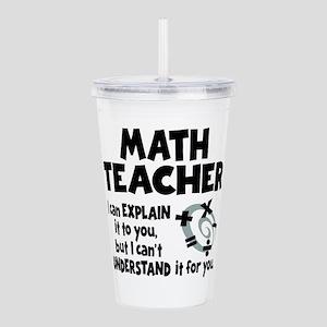 MATH TEACHER Acrylic Double-wall Tumbler