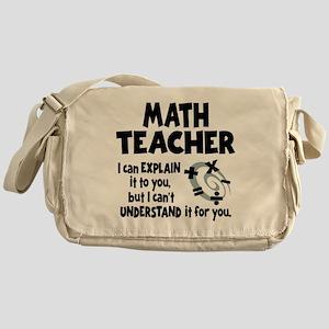MATH TEACHER Messenger Bag