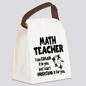 MATH TEACHER Canvas Lunch Bag