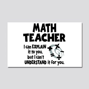 MATH TEACHER Car Magnet 20 x 12
