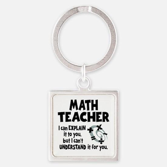 MATH TEACHER Square Keychain