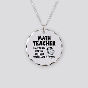 MATH TEACHER Necklace Circle Charm