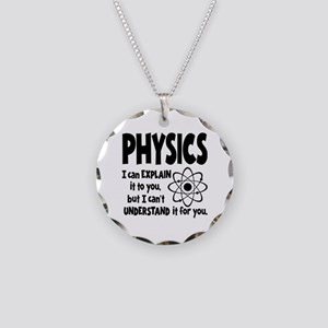 PHYSICS Necklace Circle Charm