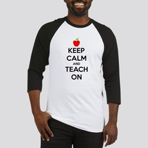 Keep Calm And Teach On Baseball Jersey