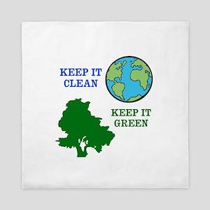 Clean / Green Queen Duvet