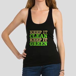 Clean / Green Racerback Tank Top