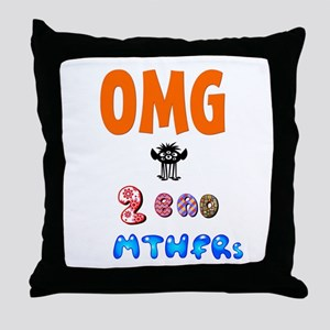 Two Bad MTHFRs Throw Pillow