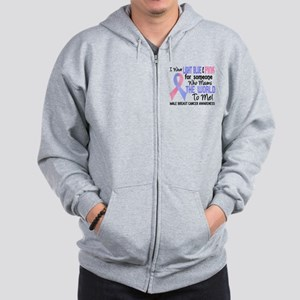 Male Breast Cancer MeansWorldToMe2 Zip Hoodie