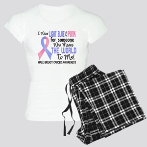 Male Breast Cancer MeansWor Women's Light Pajamas