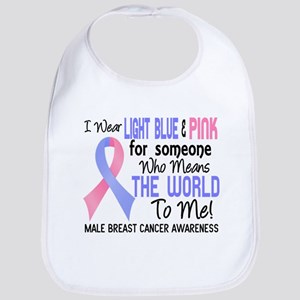Male Breast Cancer MeansWorldToMe2 Bib