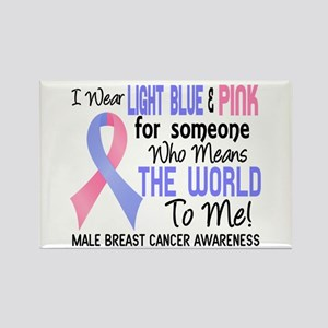 Male Breast Cancer MeansWorldToMe Rectangle Magnet