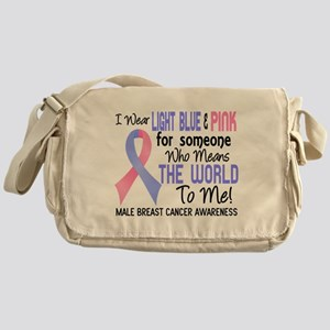 Male Breast Cancer MeansWorldToMe2 Messenger Bag